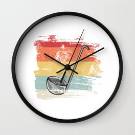 Soup ladle gift for Cook Retro Wall Clock