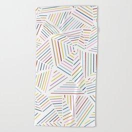 Ab Linear Rainbowz Beach Towel