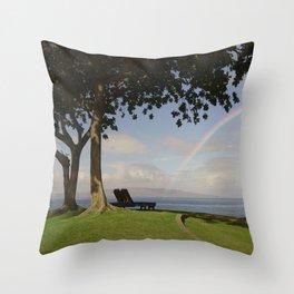 Rest Under The Rainbow Throw Pillow