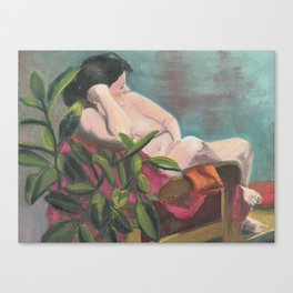 Girl With the Green Toenails Canvas Print