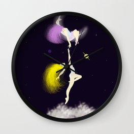 escaping to spaces Wall Clock