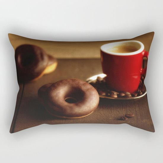 Fresh Donuts for coffee Rectangular Pillow