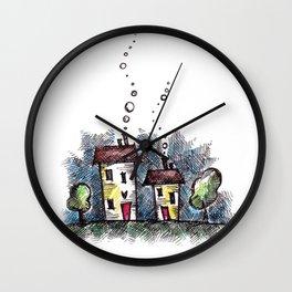 home sweet home III Wall Clock
