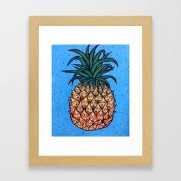 Moody Pineapple Framed Art Print