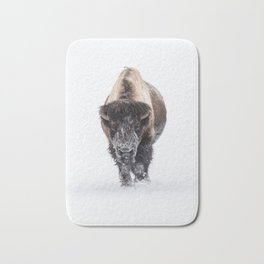 Yellowstone National Park: Lone Bull Bison Bath Mat
