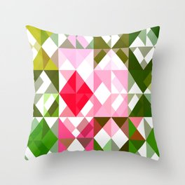 Pink Roses in Anzures 4 Abstract Triangles 1 Throw Pillow