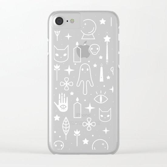 Spirit Symbols Black Clear iPhone Case