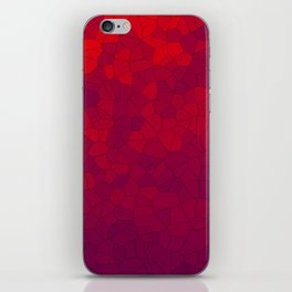 Mosaic Red Red Wine iPhone Skin