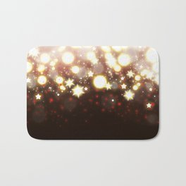 Stars Can't Shine Without Darkness sparkly lights stardust and fireworks art Bath Mat
