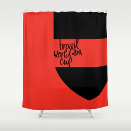 Brazil World Cup 2014 - Poster n°6 Shower Curtain