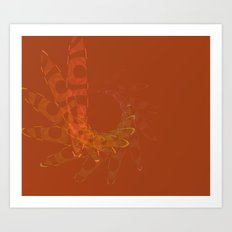 Tangerine Bliss Art Print