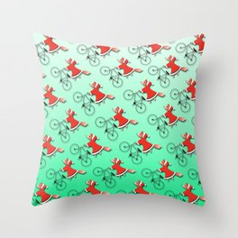Christmas fox Throw Pillow