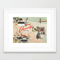 community Framed Art Prints featuring Community by Heather Landis