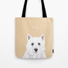 Westie on Pink Tote Bag