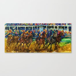 The Race No. 2 by Kathy Morton Stanion Canvas Print