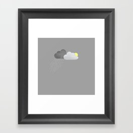 RAIN VS. SHINE Framed Art Print