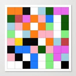 "Math Art Digital Print - ""ColoRs foR a laRge wall"" Canvas Print"
