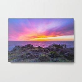 California Dreaming - Brilliant Sunset in Big Sur Metal Print