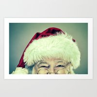 Vintage Looking Santa Claus Art Print
