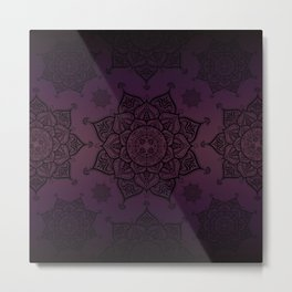 Violet & Black Mandalas Metal Print