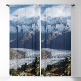 Switzerland Photography - Tall Mountains Reaching Over The Clouds Blackout Curtain