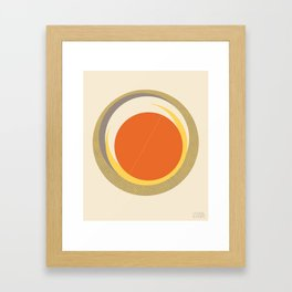 Spheres (Creme) by Matthew Korbel-Bowers for Covell & Company Framed Art Print