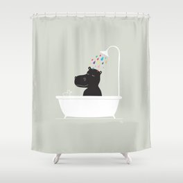 The Happy Shower Shower Curtain