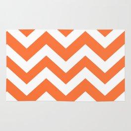 Orange (Crayola) - orange color -  Zigzag Chevron Pattern Rug