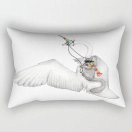 Bad Ass Squirrel & Unicorn Swan Rectangular Pillow