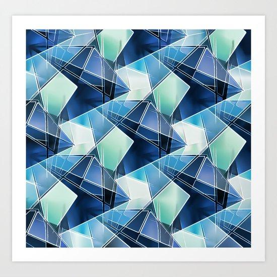 Iced Geometric Art Print