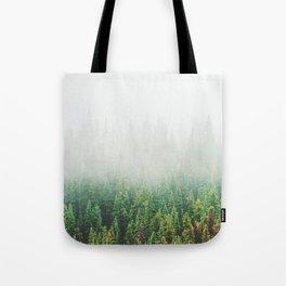 Misty Jasper Pine Forest Tote Bag