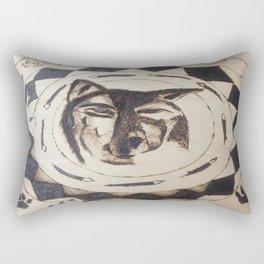 Wolf's friend Rectangular Pillow