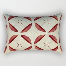 fanned umbrellas Rectangular Pillow