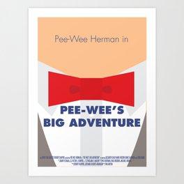 Pee-wee's Big Adventure - Minimalist Poster Art Print