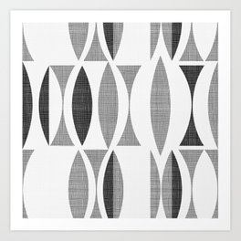 Seventies Black and White Art Print