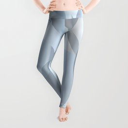 Abstract Cold Blue Circles Leggings