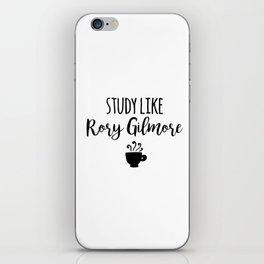 Gilmore Girls - Study like Rory Gilmore iPhone Skin