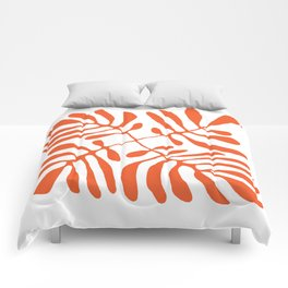 Orange Palm Fronds  Comforters