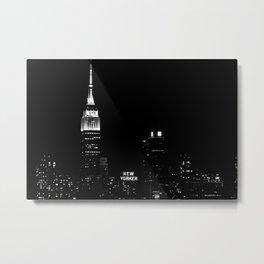 New Yorker B&W Metal Print