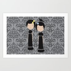 Meredith and Delany: Vampire Twins Art Print