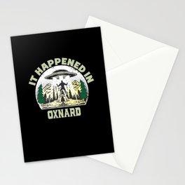 Alien UFO In oxnard City Stationery Cards