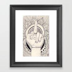 be your own god Framed Art Print