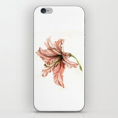 Pink Lily Flower Watercolor iPhone Skin