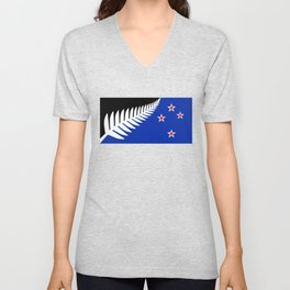 Proposed new Flag design for New Zealand Unisex V-Neck