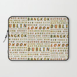 Travel World Cities Laptop Sleeve
