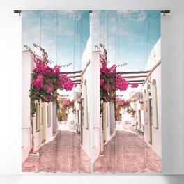 Sifnos Island Greece, Bougainvillea Street Blackout Curtain