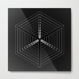 Cube Steps Metal Print