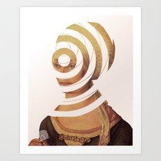 Dürer, die Frau die 20DM und der Kreis der Erinnerung Art Print