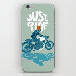 just ride iPhone Skin