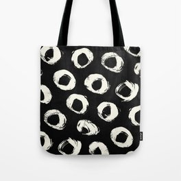 Polka Dots Cream on Black 2 Tote Bag